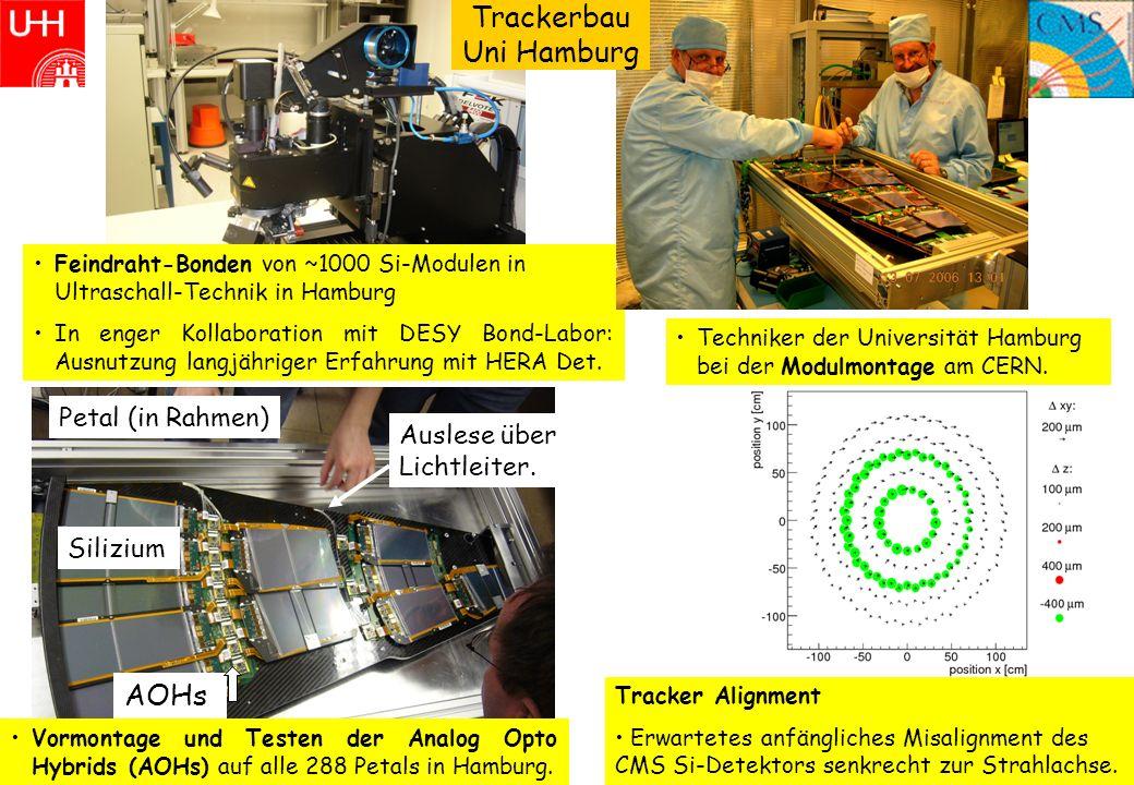 6 Feindraht-Bonden von ~1000 Si-Modulen in Ultraschall-Technik in Hamburg In enger Kollaboration mit DESY Bond-Labor: Ausnutzung langjähriger Erfahrun