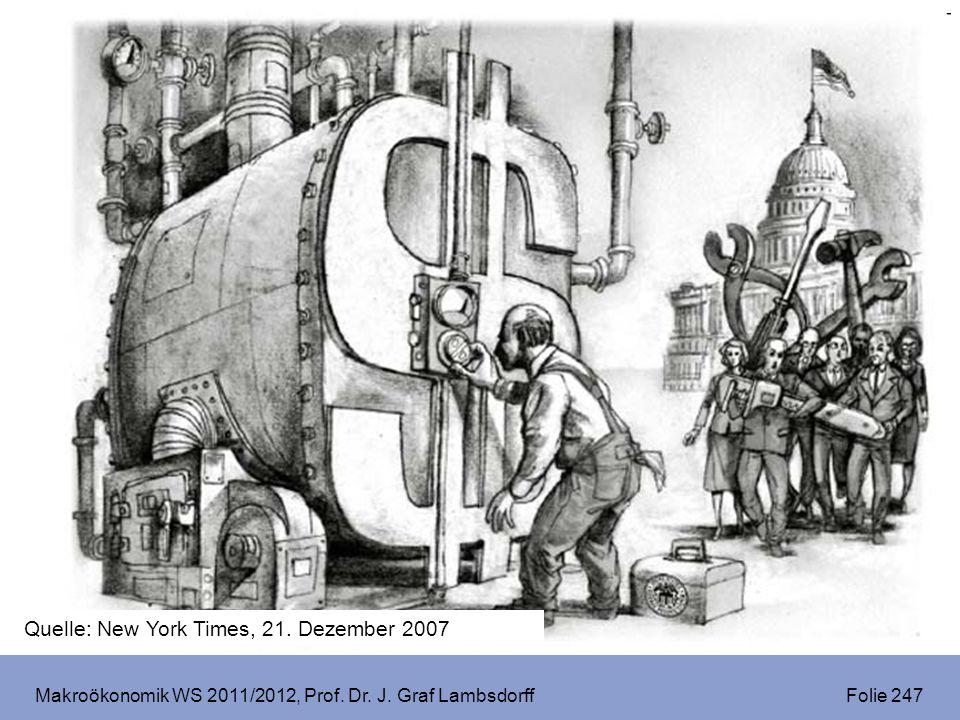 Makroökonomik WS 2011/2012, Prof. Dr. J. Graf Lambsdorff Folie 247 Quelle: New York Times, 21. Dezember 2007