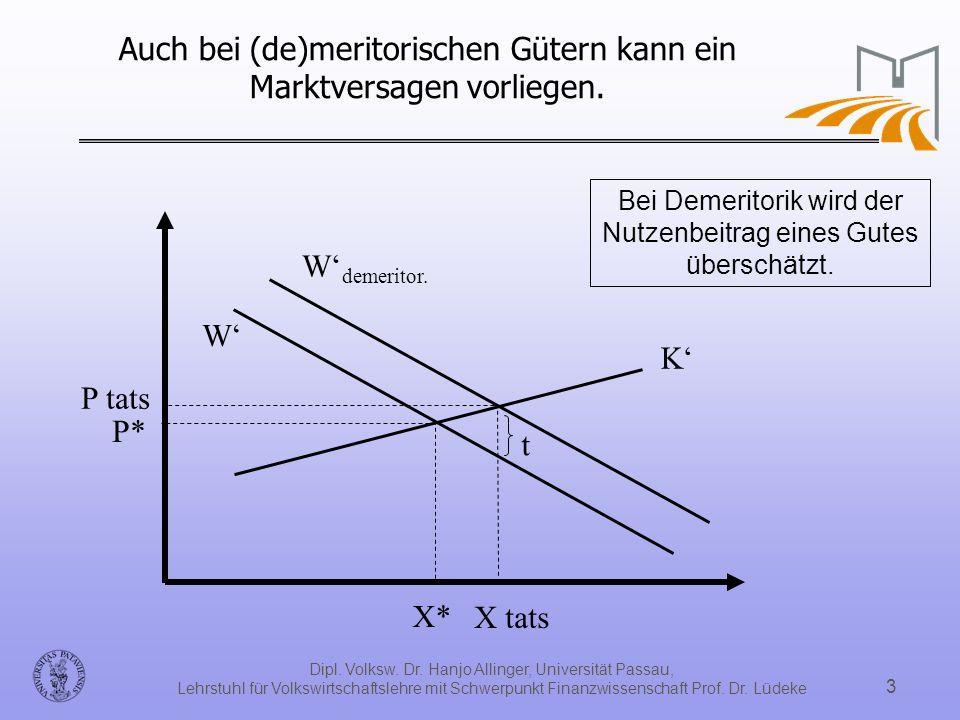 Dipl. Volksw. Dr. Hanjo Allinger, Universität Passau, Lehrstuhl für Volkswirtschaftslehre mit Schwerpunkt Finanzwissenschaft Prof. Dr. Lüdeke 3 Auch b