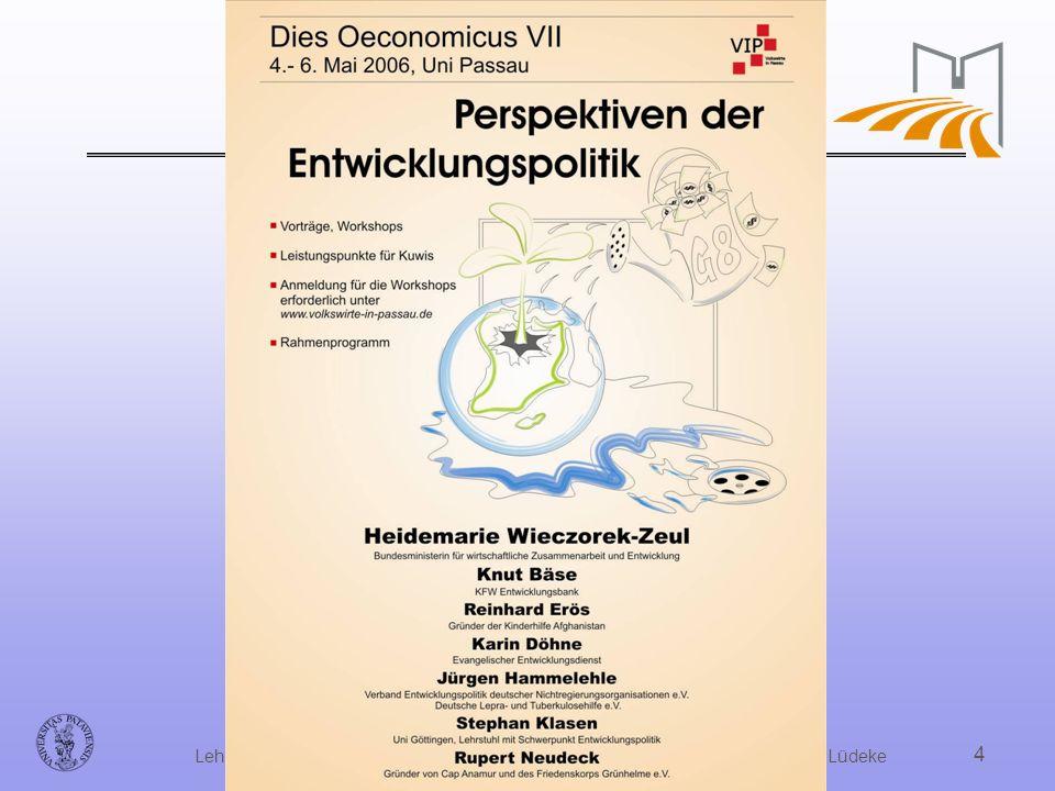 Dipl. Volksw. Dr. Hanjo Allinger, Universität Passau, Lehrstuhl für Volkswirtschaftslehre mit Schwerpunkt Finanzwissenschaft Prof. Dr. Lüdeke 4