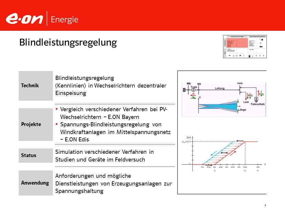 6 Simulation verschiedener Verfahren in Studien und Geräte im Feldversuch Vergleich verschiedener Verfahren bei PV- Wechselrichtern – E.ON Bayern Span