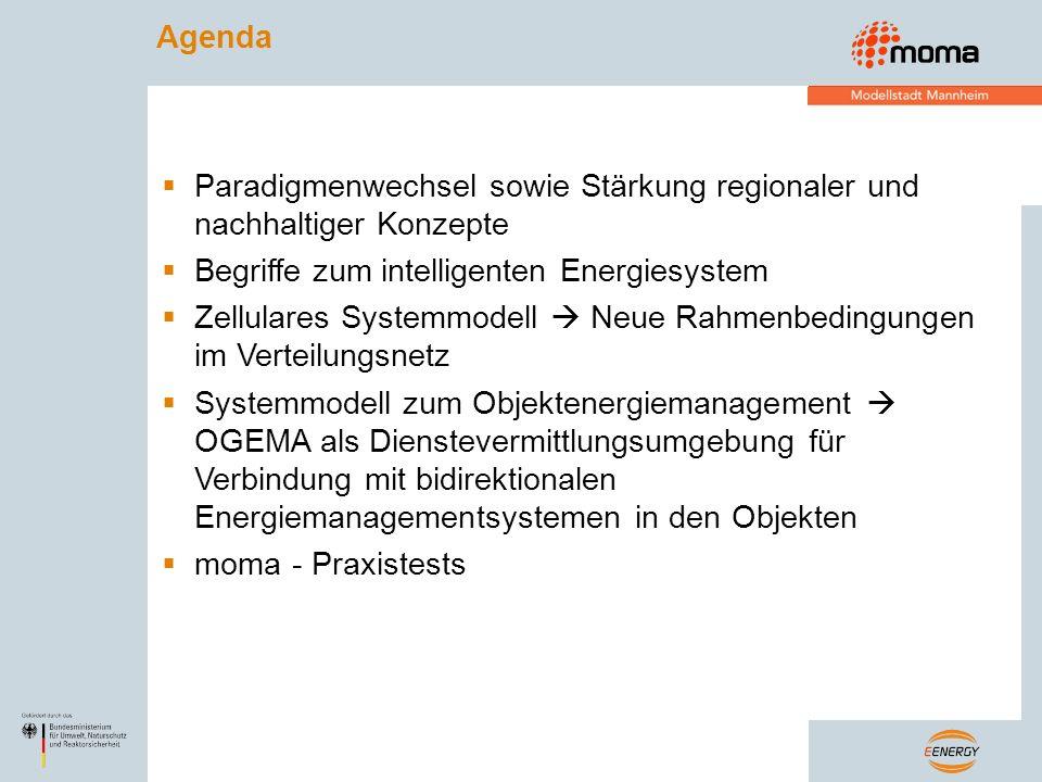Paradigmenwechsel sowie Stärkung regionaler und nachhaltiger Konzepte Begriffe zum intelligenten Energiesystem Zellulares Systemmodell Neue Rahmenbedi