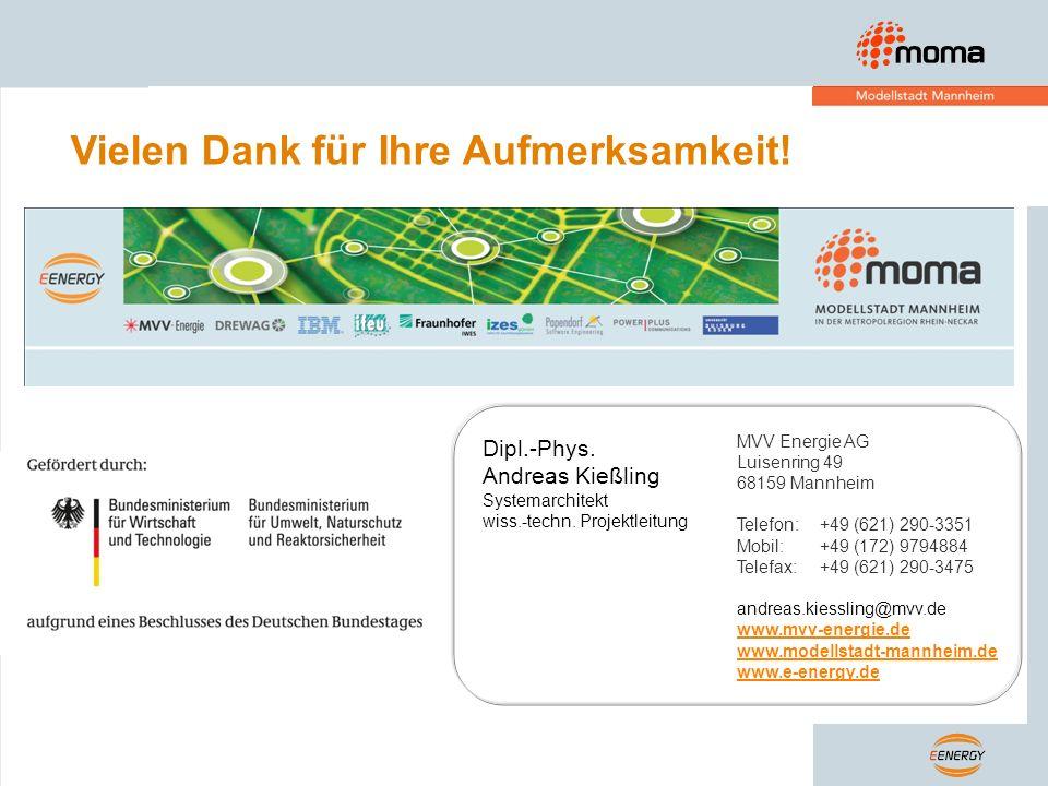 Vielen Dank für Ihre Aufmerksamkeit! MVV Energie AG Luisenring 49 68159 Mannheim Telefon:+49 (621) 290-3351 Mobil:+49 (172) 9794884 Telefax:+49 (621)