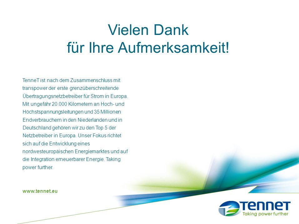 TenneT ist nach dem Zusammenschluss mit transpower der erste grenzüberschreitende Übertragungsnetzbetreiber für Strom in Europa. Mit ungefähr 20.000 K