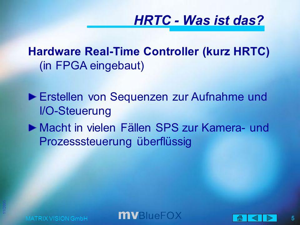 11/2005 MATRIX VISION GmbH 5 HRTC - Was ist das.