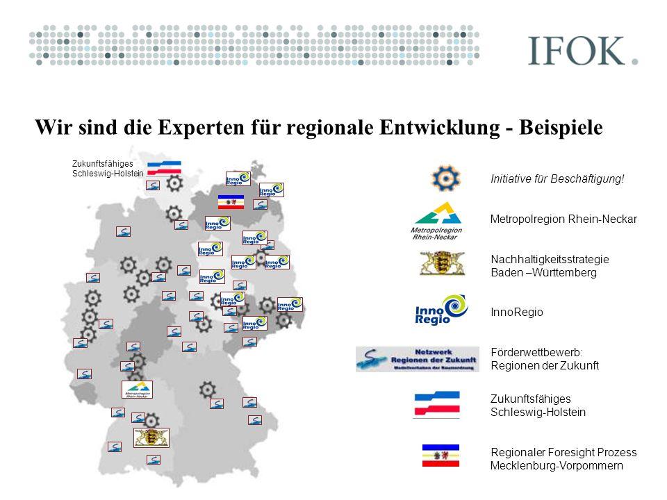 Initiative für Beschäftigung! Metropolregion Rhein-Neckar Nachhaltigkeitsstrategie Baden –Württemberg InnoRegio Förderwettbewerb: Regionen der Zukunft