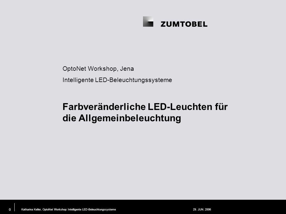 Katharina Keller, OptoNet Workshop: Intelligente LED-Beleuchtungssysteme29.