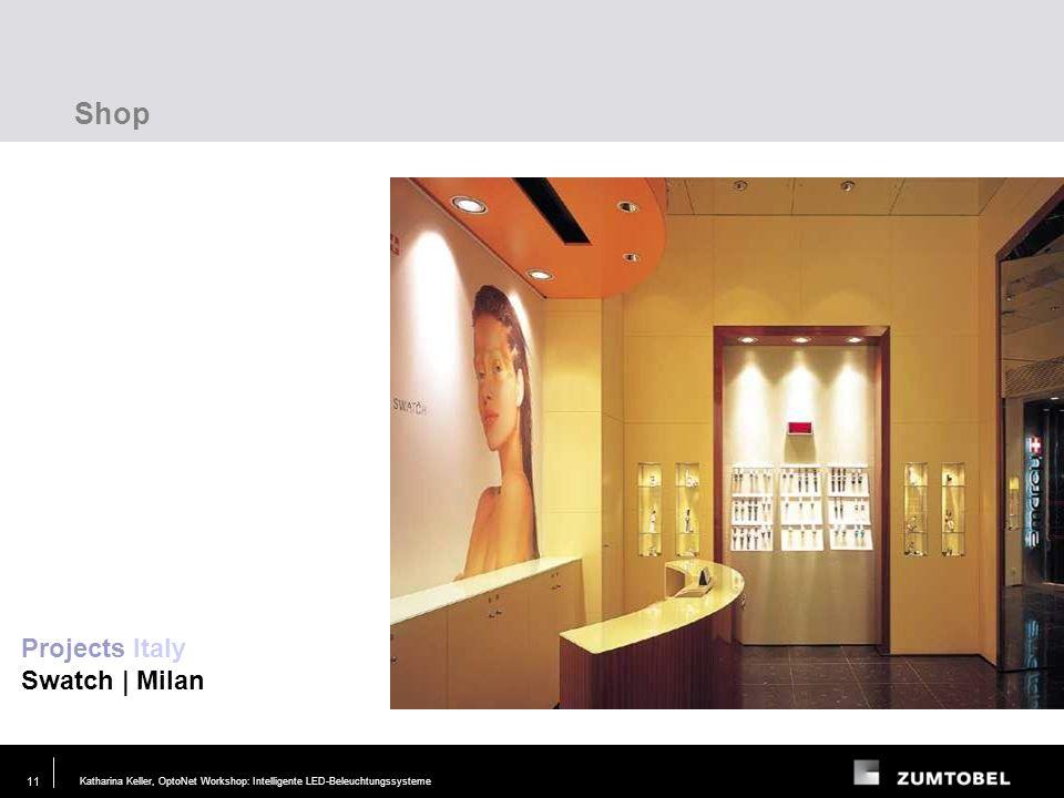 Katharina Keller, OptoNet Workshop: Intelligente LED-Beleuchtungssysteme29. JUN. 2006 10 Shop Projects France Escada Megastores | Paris