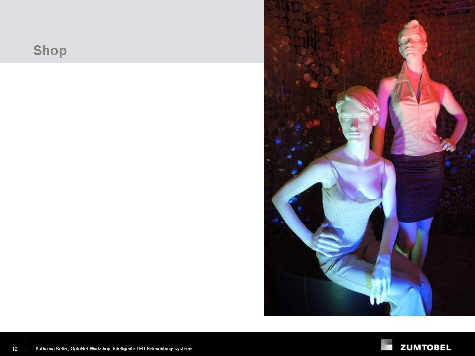 Katharina Keller, OptoNet Workshop: Intelligente LED-Beleuchtungssysteme29. JUN. 2006 12 Shop