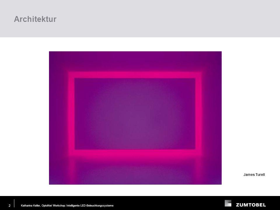 Katharina Keller, OptoNet Workshop: Intelligente LED-Beleuchtungssysteme29. JUN. 2006 1 Inhalt Farb- und farbtemperaturveränderliche Beleuchtung Anwen