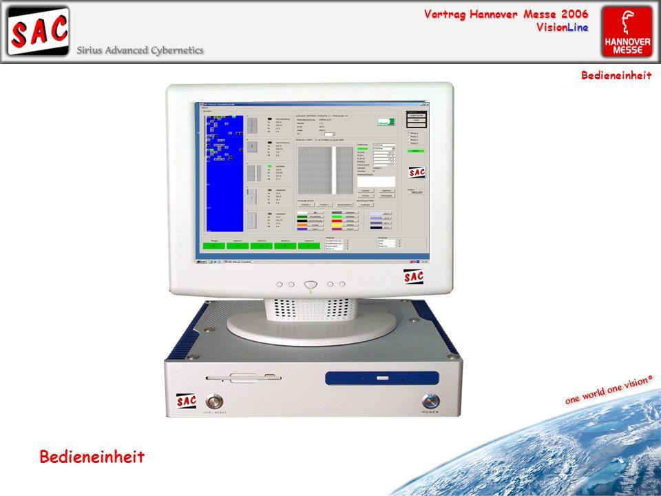 Vortrag Hannover Messe 2006 VisionLine Bedieneinheit