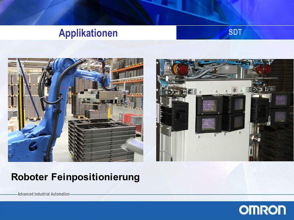 SDT Applikationen Roboter Feinpositionierung