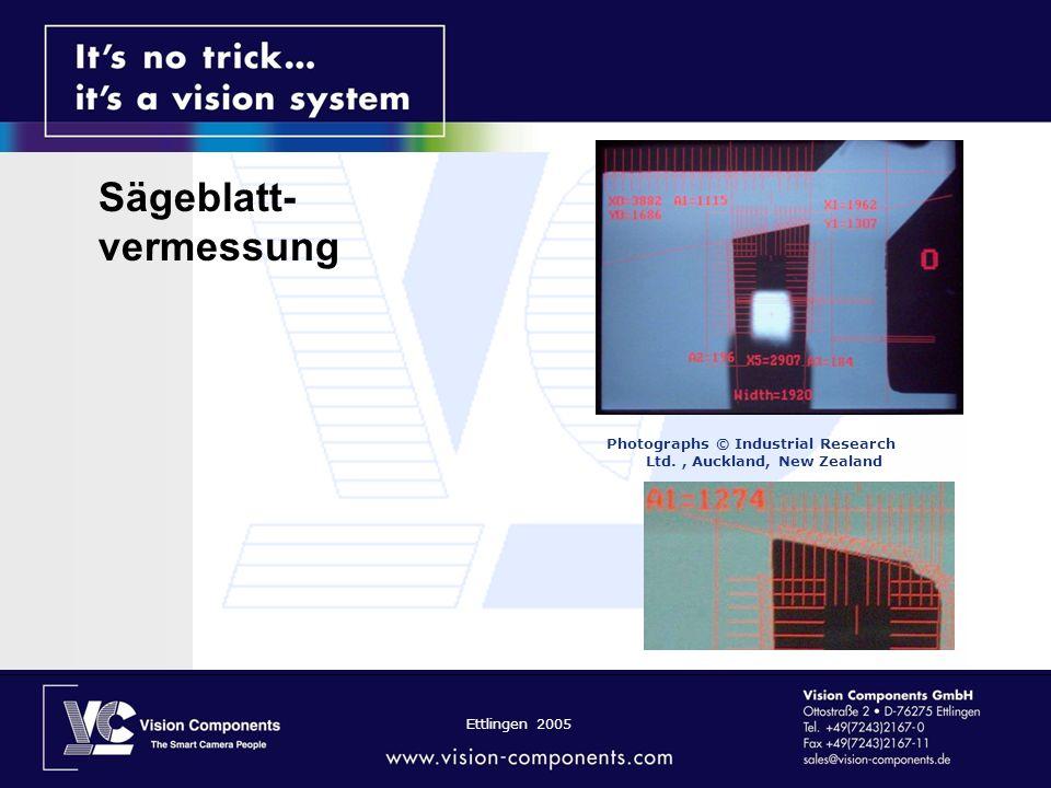 Ettlingen 2005 Photographs © Industrial Research Ltd., Auckland, New Zealand Sägeblatt- vermessung
