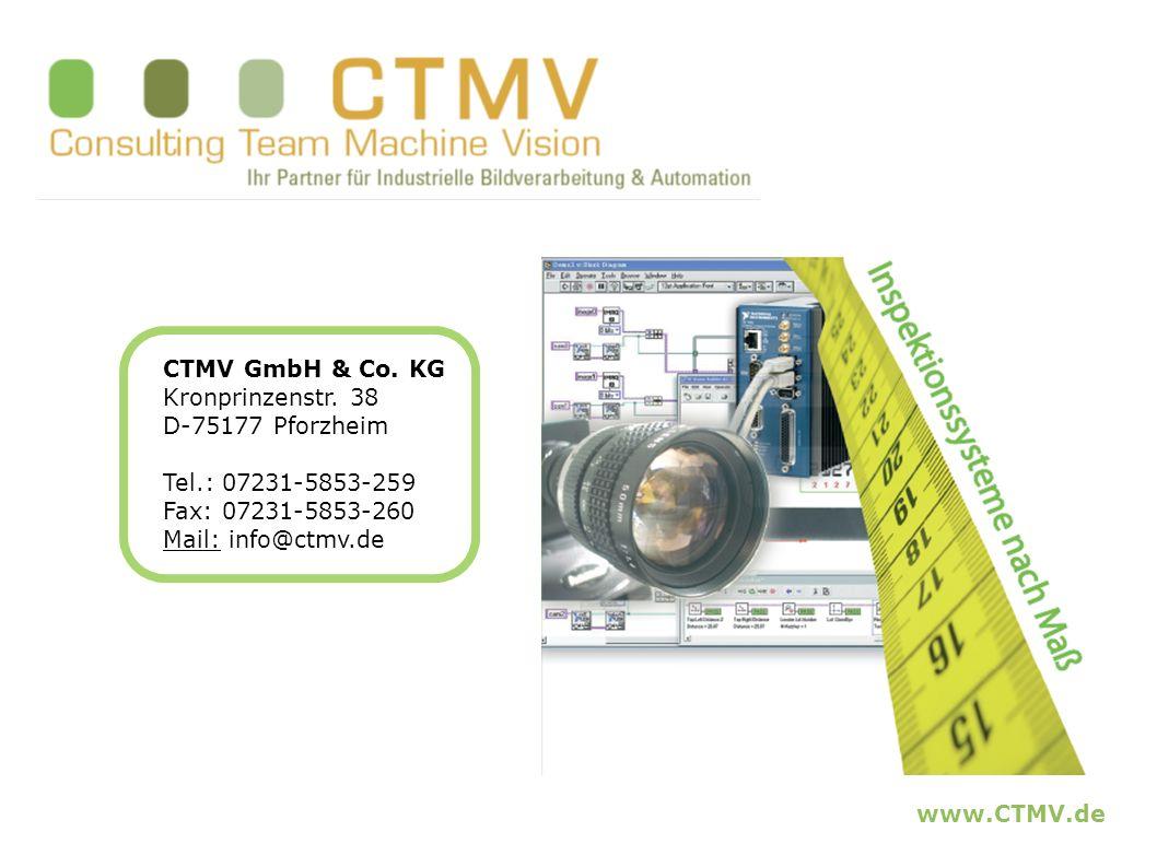 www.CTMV.de CTMV GmbH & Co. KG Kronprinzenstr. 38 D-75177 Pforzheim Tel.: 07231-5853-259 Fax: 07231-5853-260 Mail: info@ctmv.de