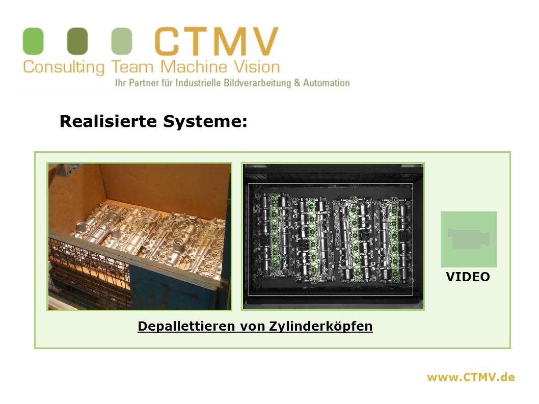 www.CTMV.de Realisierte Systeme: Depallettieren von Zylinderköpfen VIDEO