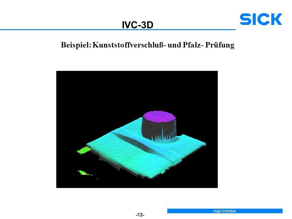 Ingo Schübel -13- Beispiel: Kunststoffverschluß- und Pfalz- Prüfung IVC-3D