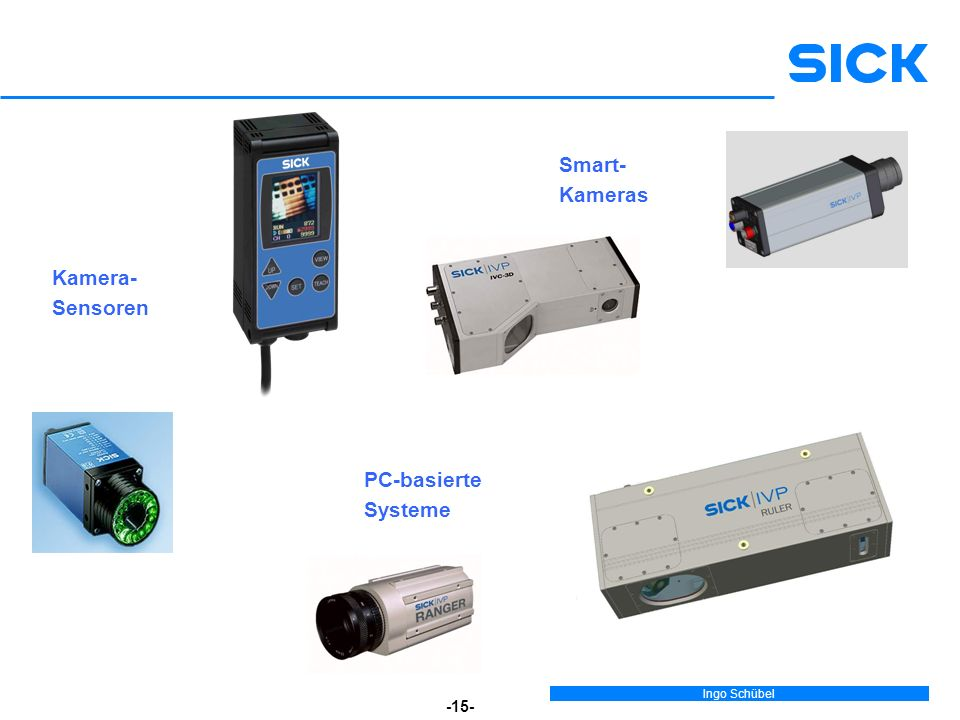 Ingo Schübel -15- Kamera- Sensoren Smart- Kameras PC-basierte Systeme