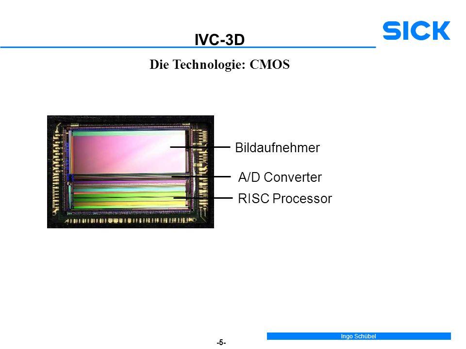 Ingo Schübel -5- Die Technologie: CMOS Bildaufnehmer A/D Converter RISC Processor IVC-3D