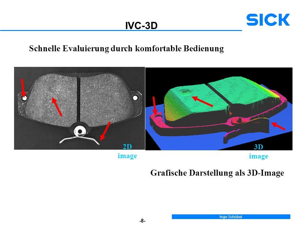 Ingo Schübel -8- 3D image Grafische Darstellung als 3D-Image Schnelle Evaluierung durch komfortable Bedienung 2D image IVC-3D