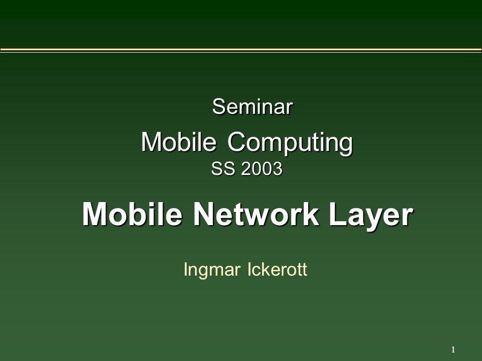 22 Mobile IP Dienste Tunneling