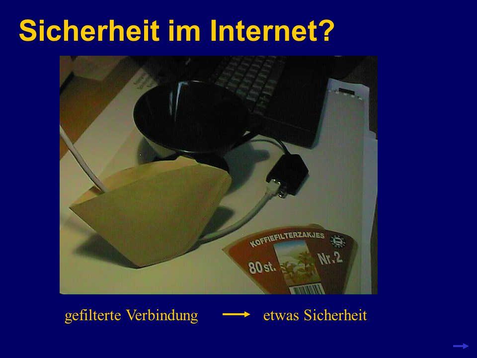Sicherheit im Internet? gefilterte Verbindungetwas Sicherheit