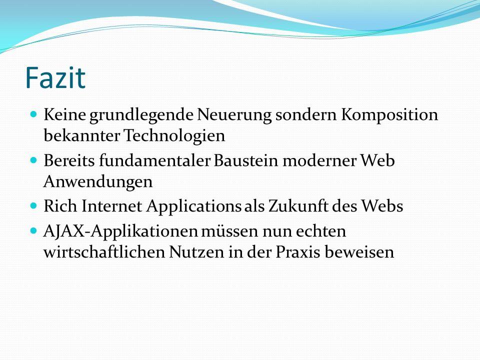 Diskussionsfragen Kann AJAX die Usability von Web-Applikationen revolutionieren.