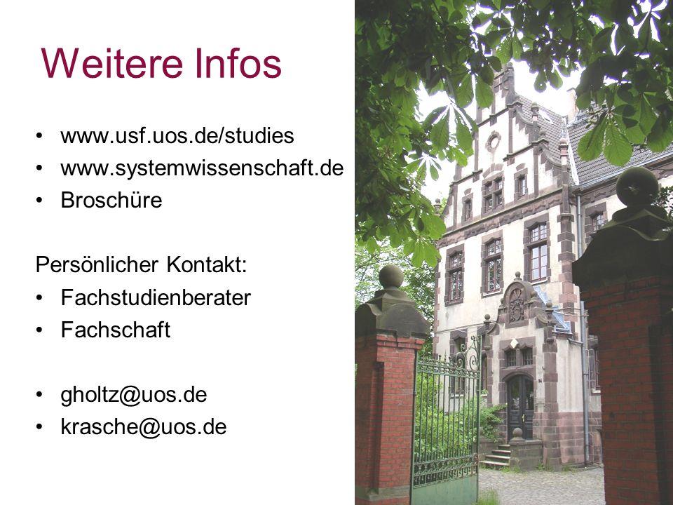 Weitere Infos www.usf.uos.de/studies www.systemwissenschaft.de Broschüre Persönlicher Kontakt: Fachstudienberater Fachschaft gholtz@uos.de krasche@uos