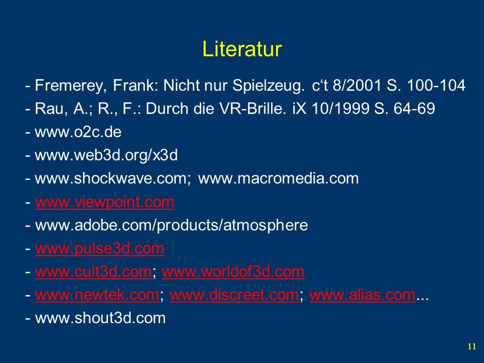 11 Literatur - Fremerey, Frank: Nicht nur Spielzeug.
