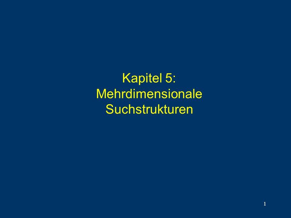 1 Kapitel 5: Mehrdimensionale Suchstrukturen