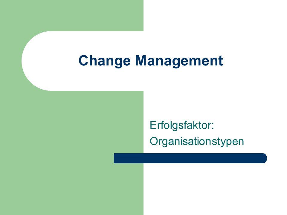 Change Management Erfolgsfaktor: Organisationstypen