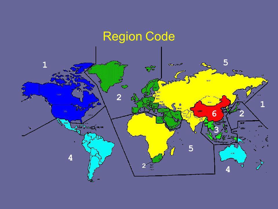 Region Code 4 1 1 2 2 5 62 3 5 4