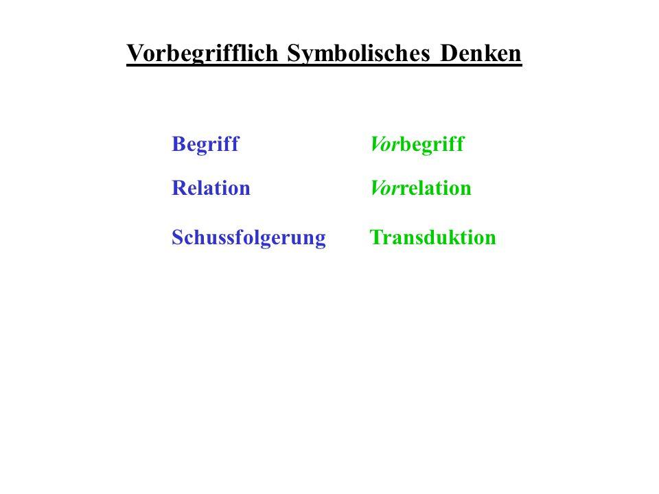 Vorbegrifflich Symbolisches Denken Begriff Relation Schussfolgerung Vorbegriff Vorrelation Transduktion