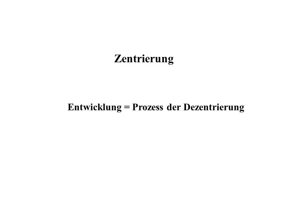 Zentrierung Entwicklung = Prozess der Dezentrierung