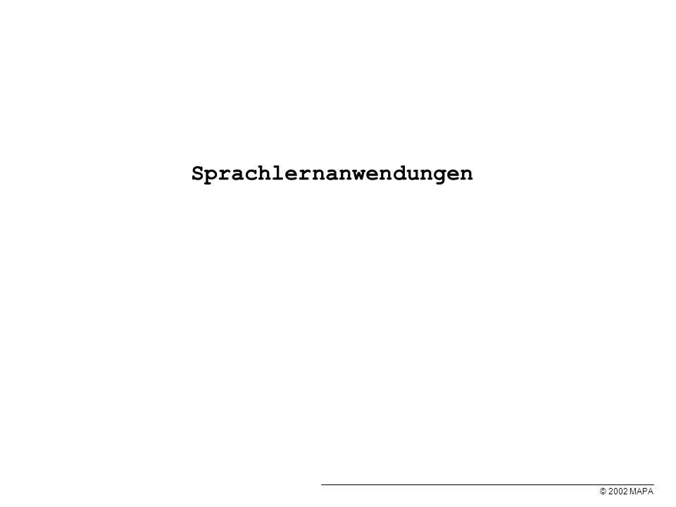 © 2002 MAPA Sprachlernanwendungen