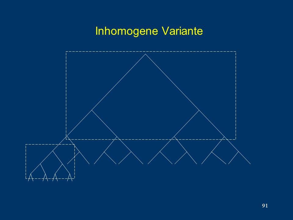 91 Inhomogene Variante