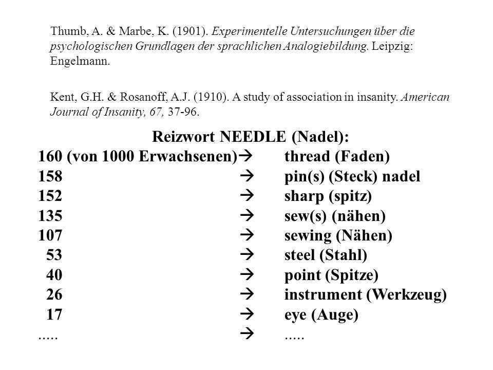 Thumb, A. & Marbe, K. (1901). Experimentelle Untersuchungen über die psychologischen Grundlagen der sprachlichen Analogiebildung. Leipzig: Engelmann.