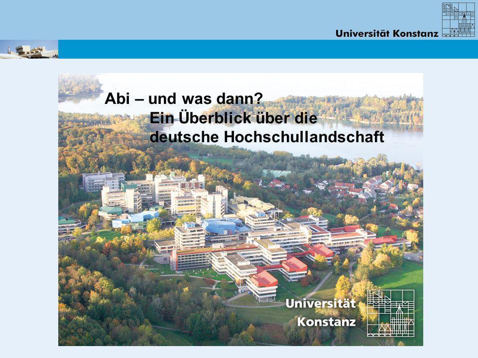 Abi – und was dann? Ein Überblick über die deutsche Hochschullandschaft