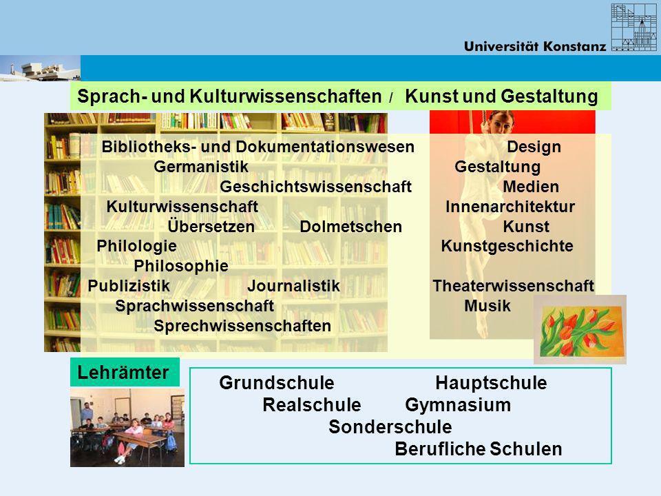 Bibliotheks- und Dokumentationswesen Design Germanistik Gestaltung Geschichtswissenschaft Medien Kulturwissenschaft Innenarchitektur Übersetzen Dolmet