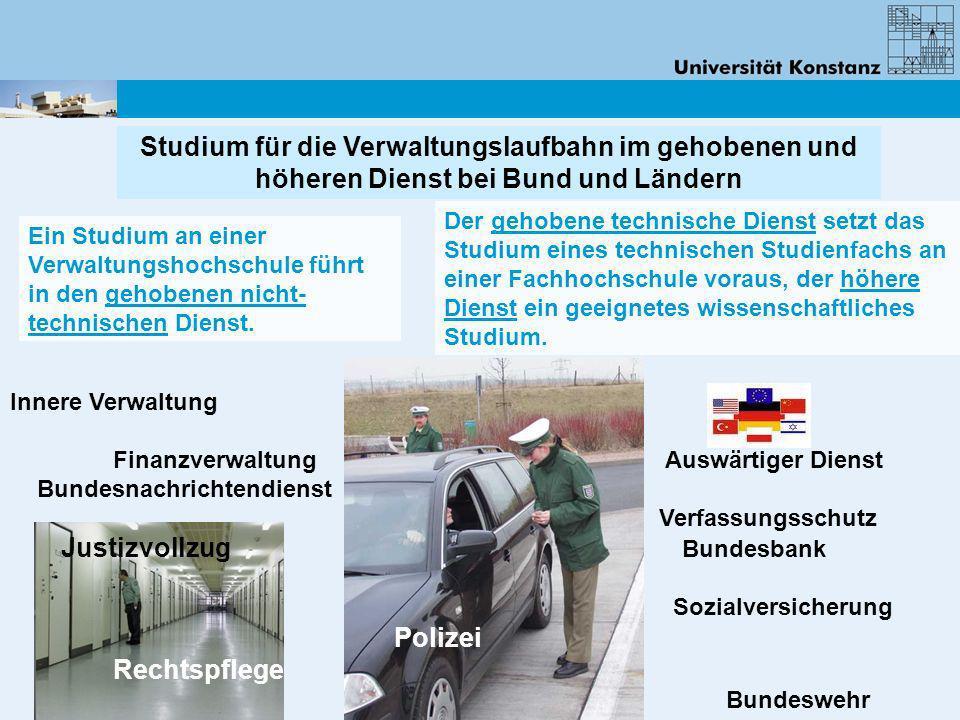 Innere Verwaltung Finanzverwaltung Auswärtiger Dienst Bundesnachrichtendienst Verfassungsschutz Justizvollzug Bundesbank Sozialversicherung Polizei Re