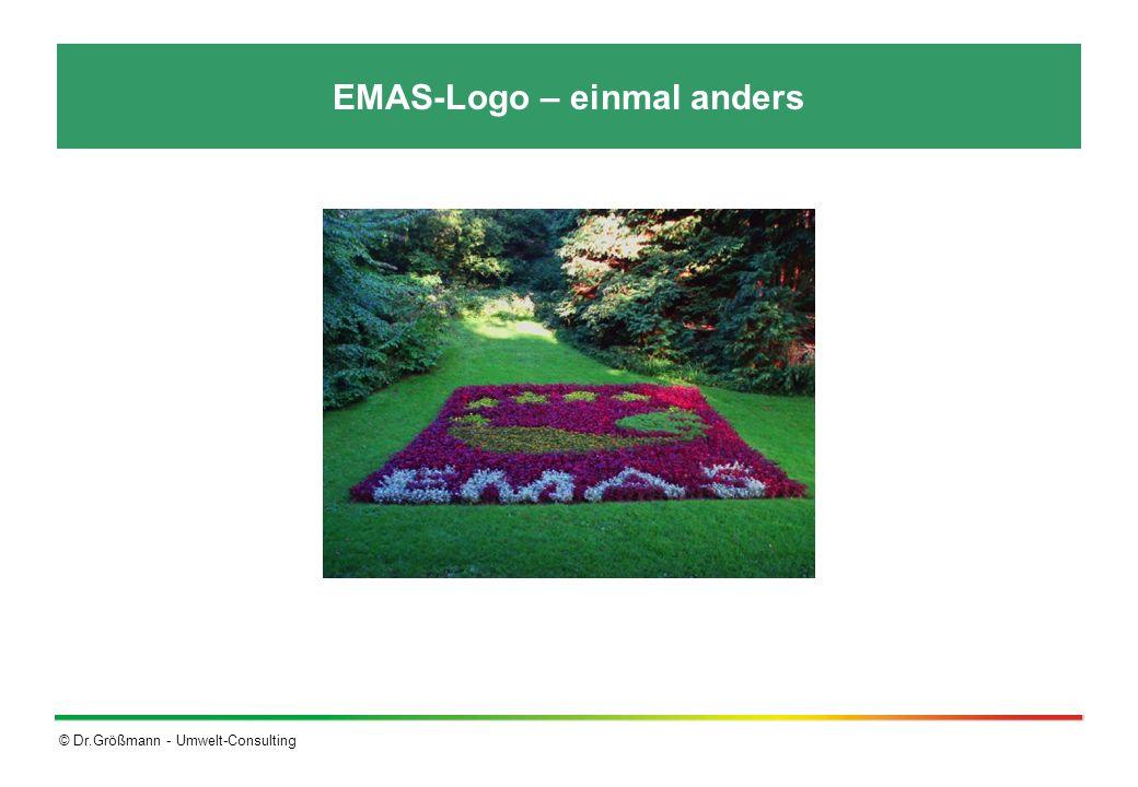 © Dr.Größmann - Umwelt-Consulting EMAS-Logo – einmal anders