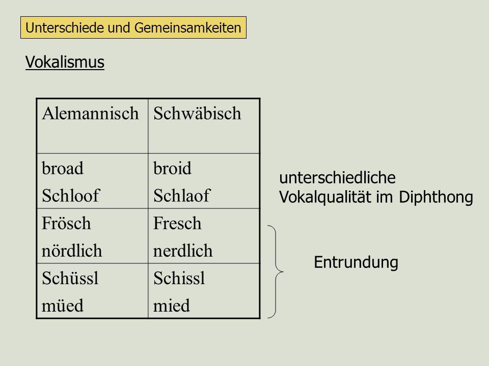 Lexikoneintrag eines Funktionswortes: wenn sich Sprachen in der Spezifikation ihrer Funktionswörter unterscheiden, dann hat dies auch Auswirkungen auf die Satzstruktur Alemannisch: klitische Pronomen einsilbige W-Wörter als Konj.