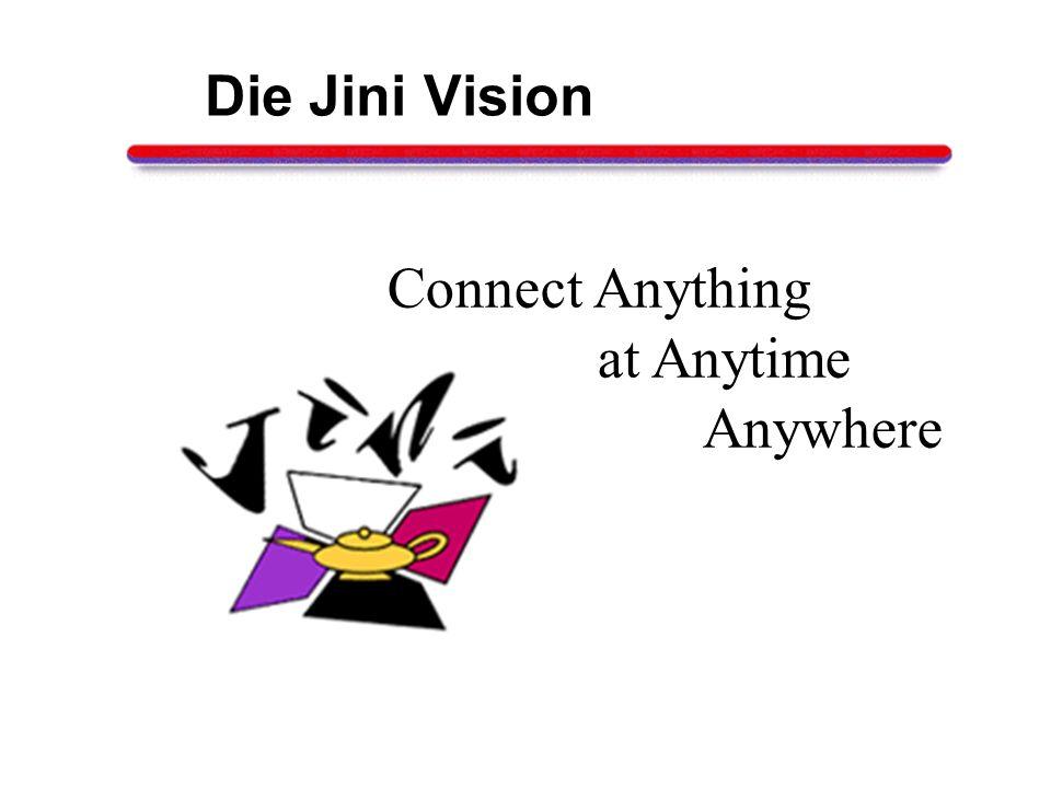 Der Nutzer trägt sich ein Jini Lookup Service Provider Service Consumer Discovery