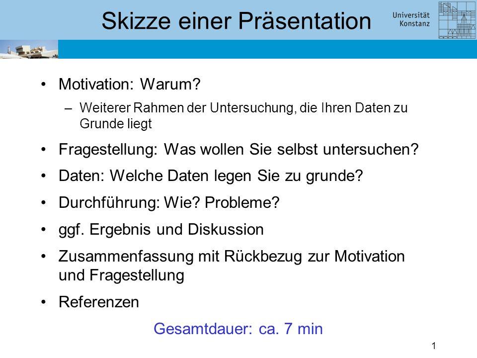 Präsentation zum Seminarprojekt Statistik mit R Name WS 2011/12