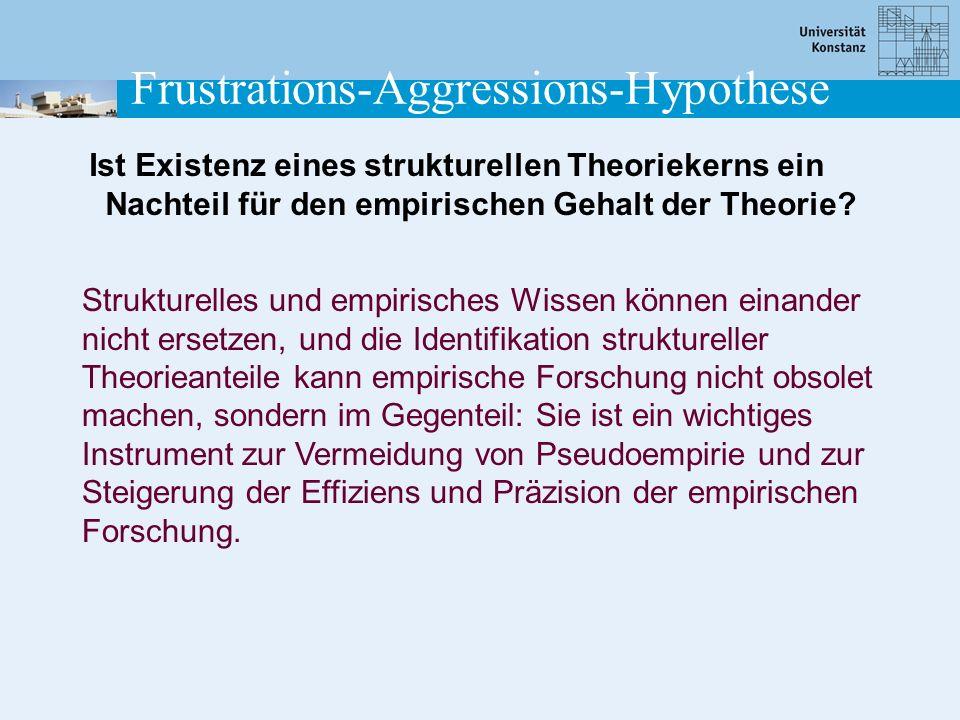 Ist Existenz eines strukturellen Theoriekerns ein Nachteil für den empirischen Gehalt der Theorie? Strukturelles und empirisches Wissen können einande