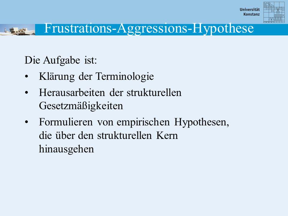 Die Aufgabe ist: Klärung der Terminologie Herausarbeiten der strukturellen Gesetzmäßigkeiten Formulieren von empirischen Hypothesen, die über den stru