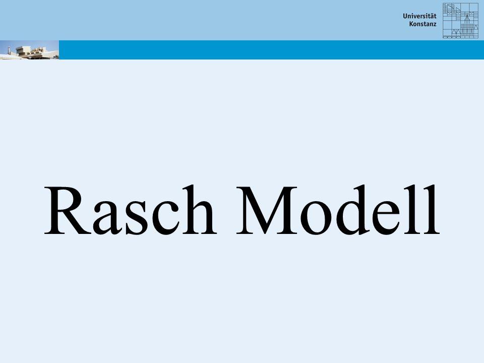 Rasch Modell