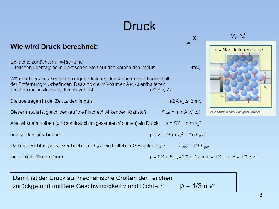 Druck 4 Hydraulische Kraftwandler Der Druck p wirkt in alle Richtungen gleich, d.h.