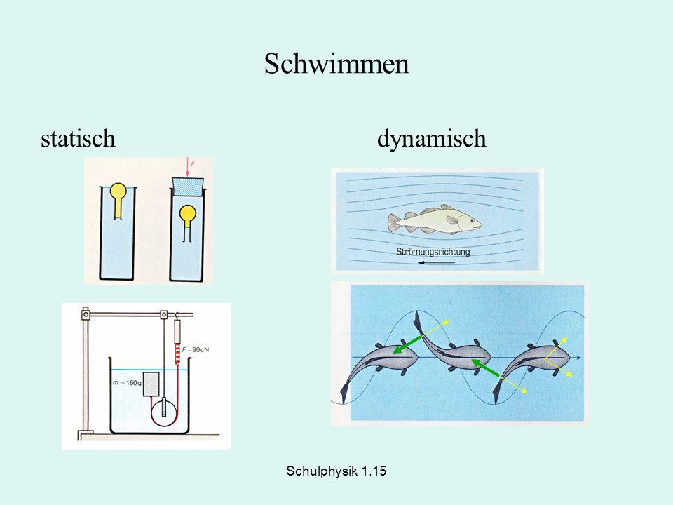 Schulphysik 1.15 Schwimmen statischdynamisch