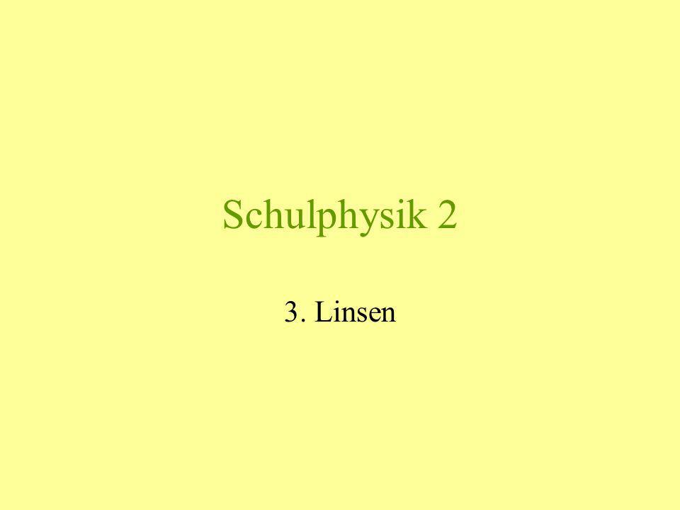 Schulphysik 2 3. Linsen