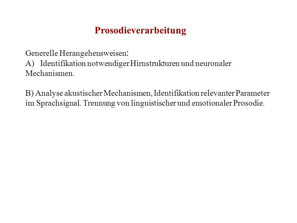 Affektive Prosodie ( siehe Ross, 2000.Affective Prosody and the Aprosodias.